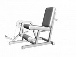 Strength fitness leg extension 3d model preview