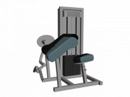 Bicep curl machine 3d preview