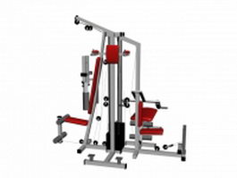 Multi gym equipment cable machine 3d preview