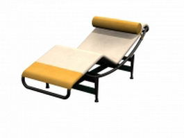 Chaise longue by Le Corbusier 3d preview