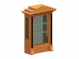 Biedermeier display cabinet 3d preview