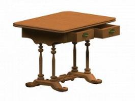 Biedermeier table 3d preview