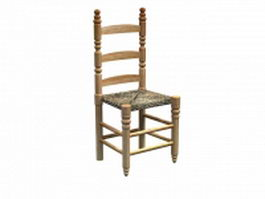 Classical side chair 3d preview