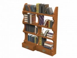 Chippendale hanging bookshelf 3d preview