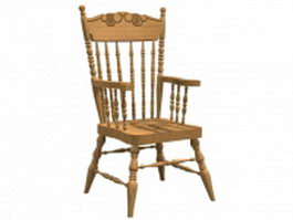 Comb-back windsor armchair 3d preview