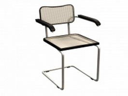 Chrome cantilever chair 3d preview