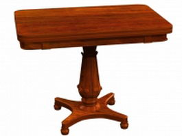Classical rosewood card table 3d preview