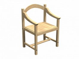 Workbench wood chair 3d preview