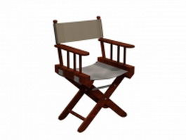 Canvas director chair 3d preview