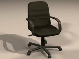 Office swivel lifting chair 3d model preview