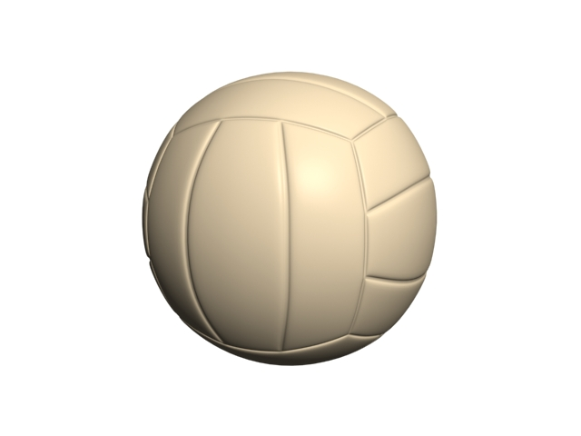 Rubber volleyball 3d rendering