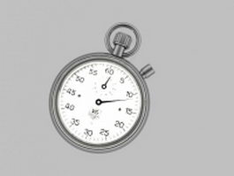 Mechanical stopwatch 3d preview