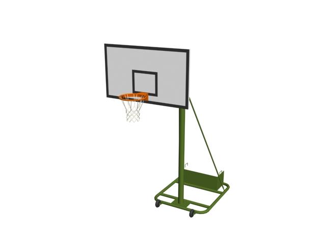 Basketball rack 3d rendering