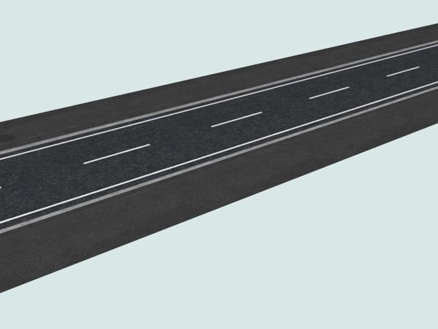 Asphalted road 3d rendering