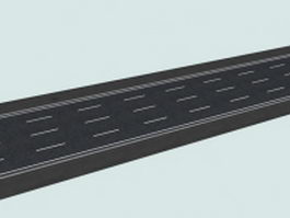 Four-lane roadway 3d preview
