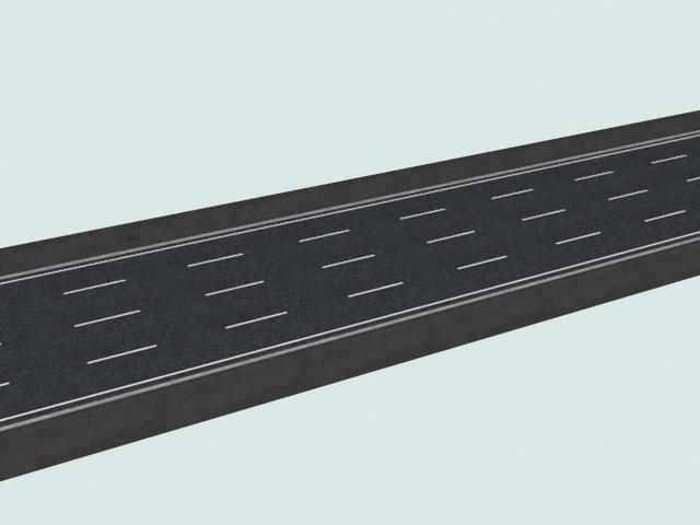 Four-lane roadway 3d rendering