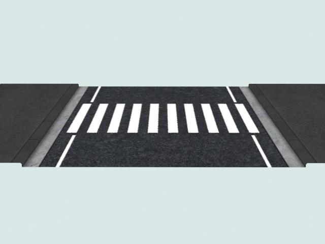 Crosswalk marking 3d rendering