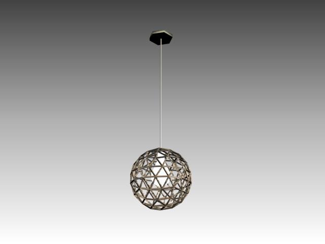 Lacework sphere hanging light 3d rendering