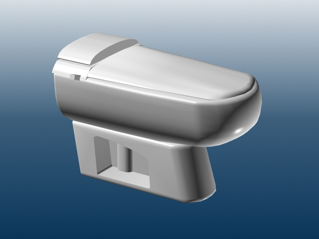Low poly model toilet 3d rendering