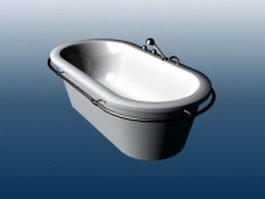 Free standing fiberglass tub 3d preview