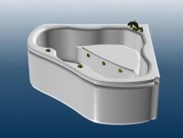 Jacuzzi whirlpool bathtub 3d model preview