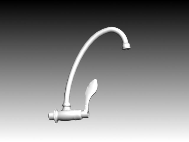 Bath shower faucet 3d rendering