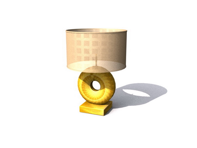 Cool table lamp 3d rendering