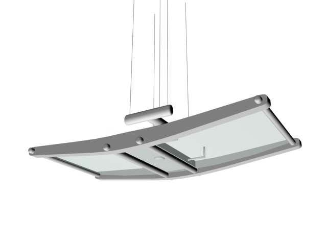 Ceiling hanging lighting 3d rendering