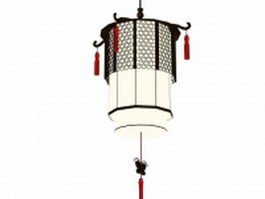 Chinese style antiquing palace lantern 3d model preview