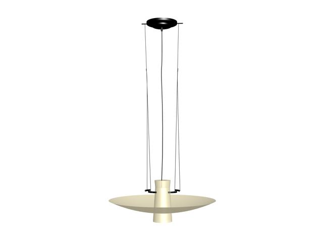 Bowl hanging light 3d rendering