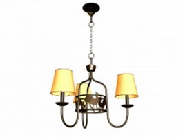 Wrought iron chandelier 3d preview
