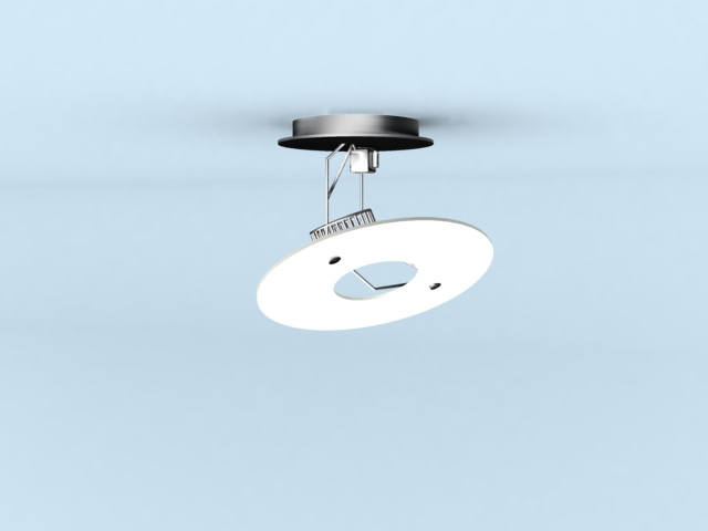 Fixed halogen downlight 3d rendering