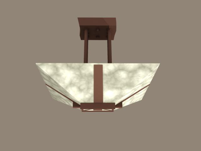 Antique bronze pendant light 3d rendering