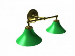 2-light antique wall lamp 3d model preview