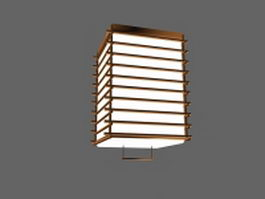 Classic square hanging lamp 3d model preview