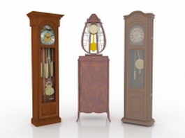 Three pendulum clock collections 3d model preview