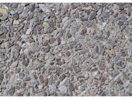 Gravel paving road texture