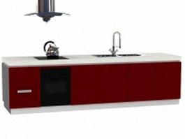 Fashion countertop cabinet 3d model preview