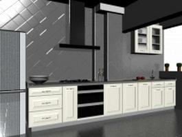 Minimalist kitchen design 3d preview