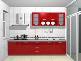 Small galley kitchen 3d preview