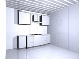 Simple kitchen design 3d preview