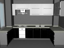 Small U-kitchen ideas 3d model preview