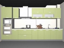 Single kitchen unit 3d model preview