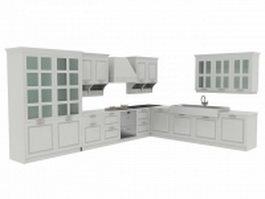 European kitchen cabinets 3d preview