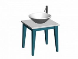Bathroom basin stand 3d preview
