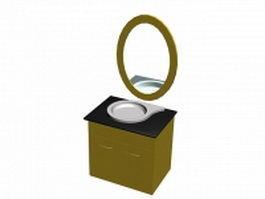 Vanity top and cabinet 3d model preview