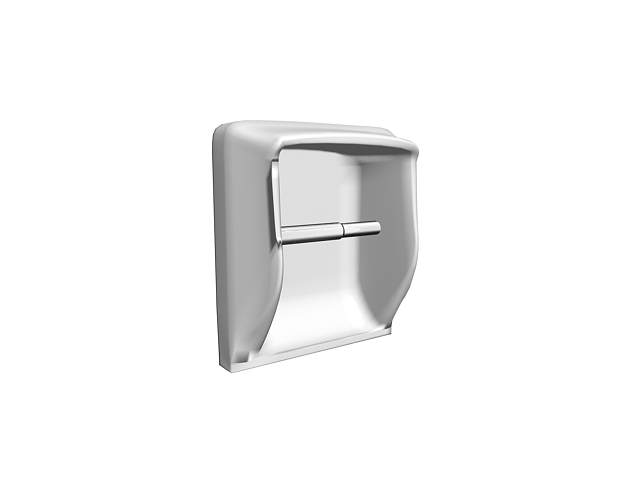 Plastic paper holder 3d rendering