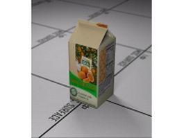 Orange juice carton 3d model preview
