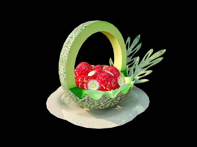 Fruit tray 3d rendering