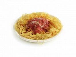 Spaghetti sauce 3d model preview